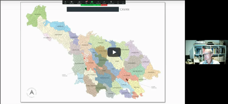 Video of presentation to The Genealogical Society of Ireland on Townlands including an overview of content on CavanTownlands.com 12th October 2021
